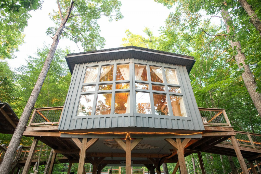 exterior of the treehouse