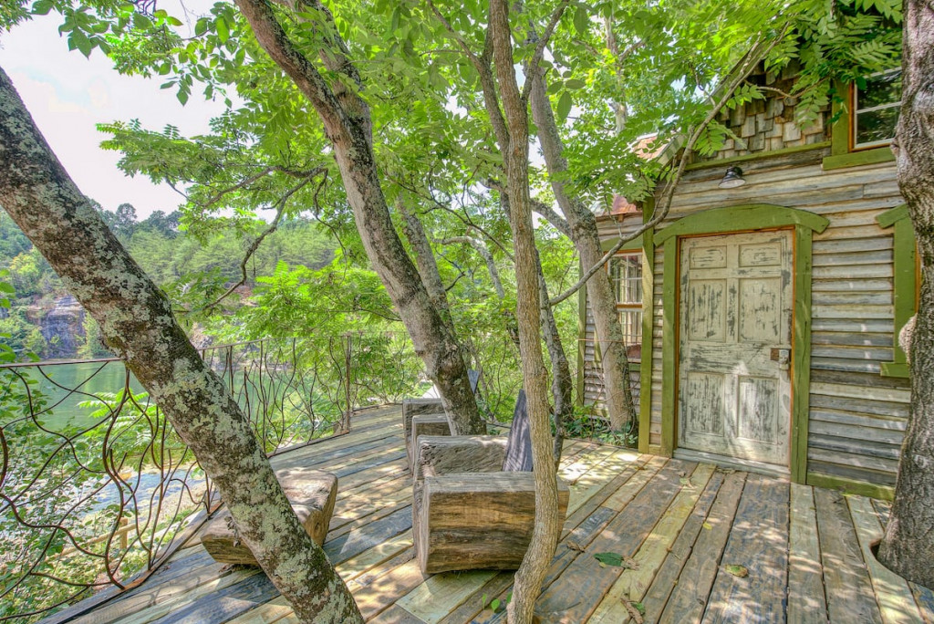 The Bostonian is a unique treehouse by an old stone quarry.