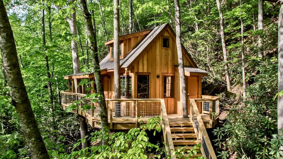 Treehouse grove is a place with several various treehouses all named after trees.