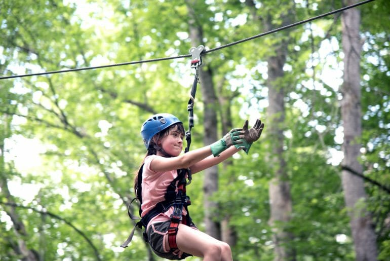 ziplining near Bryson City, NC is one of the many fun things to do in Bryson City, NC