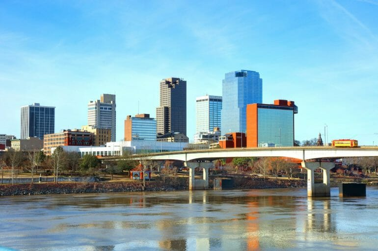 View of Little Rock from across the river