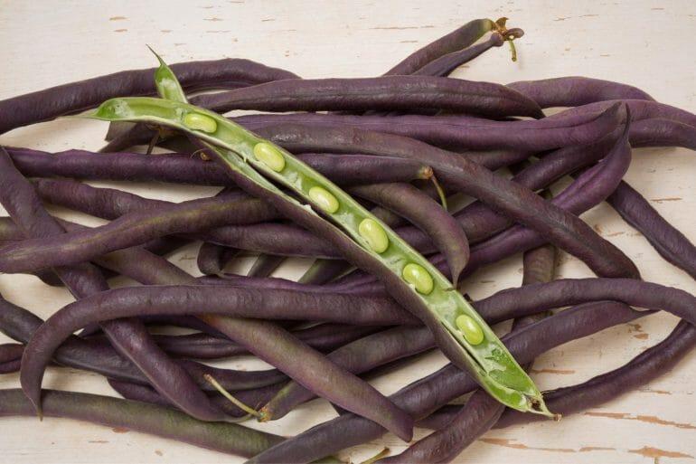 purple hull peas still in the shell