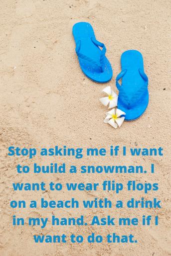 flipflops on a beach