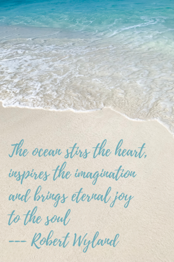 Quotes about the beach - The ocean stirs the heart, inspires the imagination and brings eternal joy to the soul. Robert Wyland