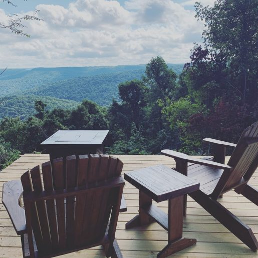 view from the glamping dome in tennessee