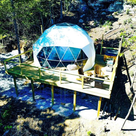A dome for glamping in tennessee