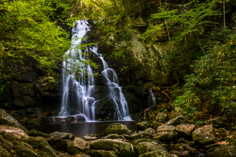 Spruce Flats Falls. Hiking is one of the best things to do in townsend, tn