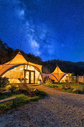 Under Canvas glamping in tennessee